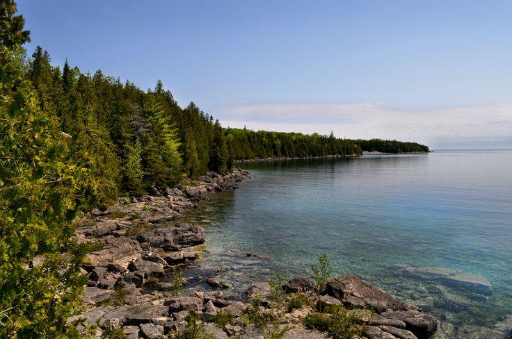Where Georgian Bay meets Lake Huron,Tobermory, Ontario. Copyright 2016 James MacDougall