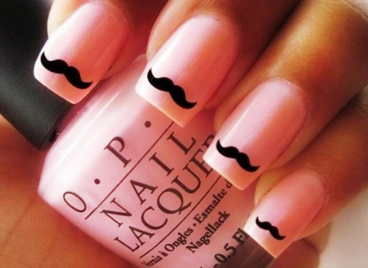 Best 25 mustache nails ideas on pinterest mustache nail art nail art prinsesfo Image collections