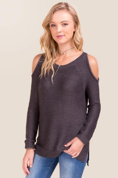 Leona Cold Shoulder Sweater