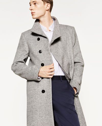 Image 5 of DESTRUCTURED COAT from Zara
