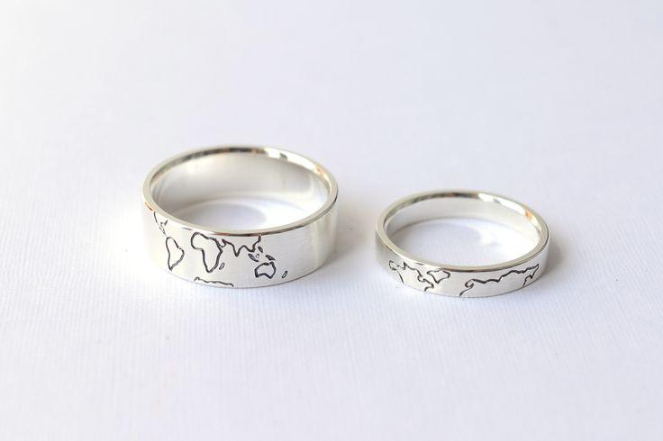 """Обручальные кольца """"Карта мира"""" в магазине «Unison Jewellery» на Ламбада-маркете"""