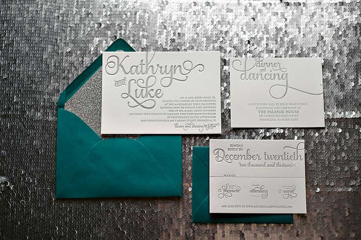 Teal Invitations Wedding: Peacock Wedding Invitations, Teal And Silver, Silver