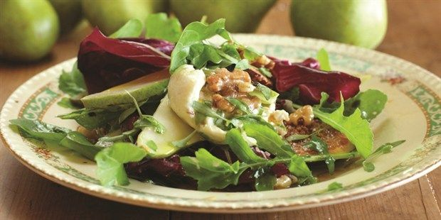 Grilled Pear Salad with Fresh Curd and Walnuts by Maggie Beer for Australian Pears