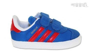 Photo Adidas Gazelle 2 CF1 - baskets enfant du 19 au 27 - Bleu et rouge