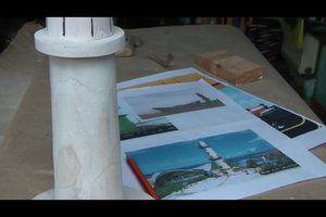 Leuchtturm selber bauen bastelanleitung f r ein for Leuchtturm basteln