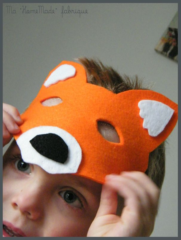 Les 25 meilleures id es de la cat gorie renard costume sur pinterest costume renard halloween - Masque halloween a fabriquer ...