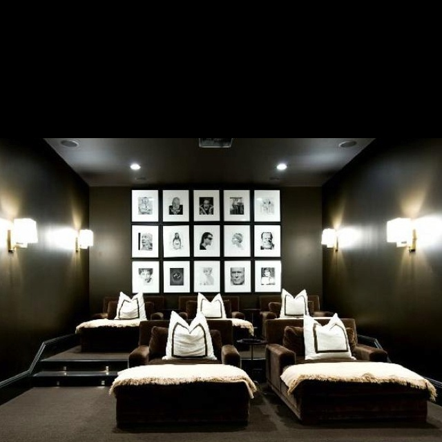 Home Movie Theater Room Chairs. Modern Home Media Room, Small Home Media  Room Ideas.