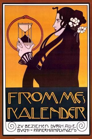 Affiche de Moser Koloman: Art Nouveau, Koloman Moser, Illustration, Poster, Artnouveau, Fromme S Calendar, Art Deco, Design