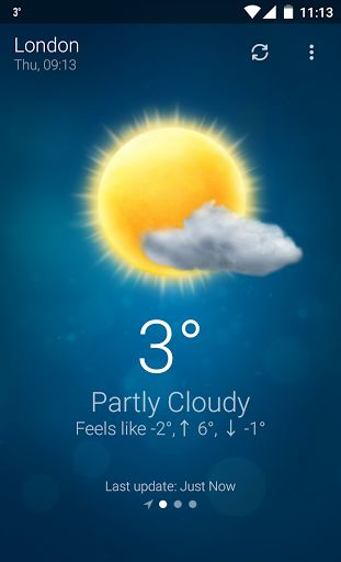 Weather v4.3 build 6060113 [Premium]   Weather v4.3 build 6060113 [Premium]Requirements:3.0Overview:Weather is exceptionally easy to use app for staying always updated with the weather conditions.  The Weather app is specifically designed to be as simple and intuitive as possible. With just one click you receive the weather condition in your status bar at your current location. The climate state is gorgeously animated so that you can almost experience it seeing how the weather comes alive…