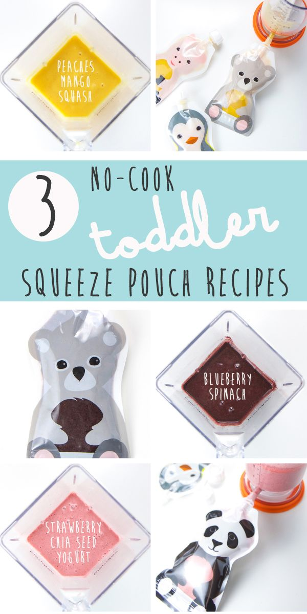 These 3 No-Cook Toddler Squeeze Pouches are a great and easy way to have a healthy snack or lite meal for your little one in no time at all. The best part, your toddler (even picky eaters) will be devouring these pouches within minutes!