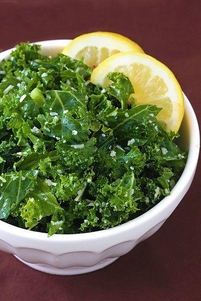 Lemon Parmesan Kale Salad by sophia: Olive Oil, Kale Salad Recipes, Simple Salad, Lemon Parmesan, Kale Salads, Lemon Kale, Healthy Food, Parmesan Kale