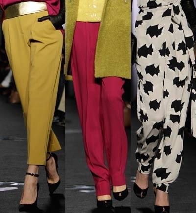 DVF Pantalones anchos y capris