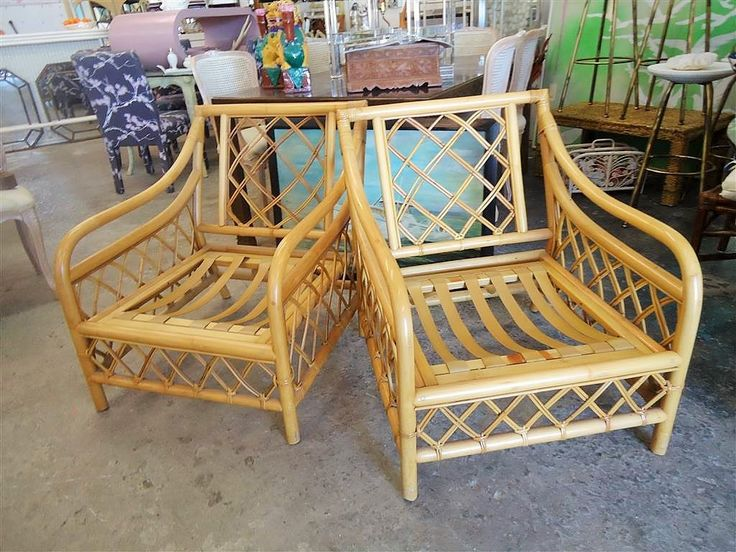 Marvelous Island Style Rattan Lounge Chairs