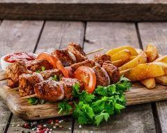 Brochettes de porc au curry façon thaïlandaise