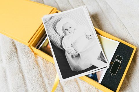Opakowanie na odbitki z pendrive -  Julia Mazgaj Photography.