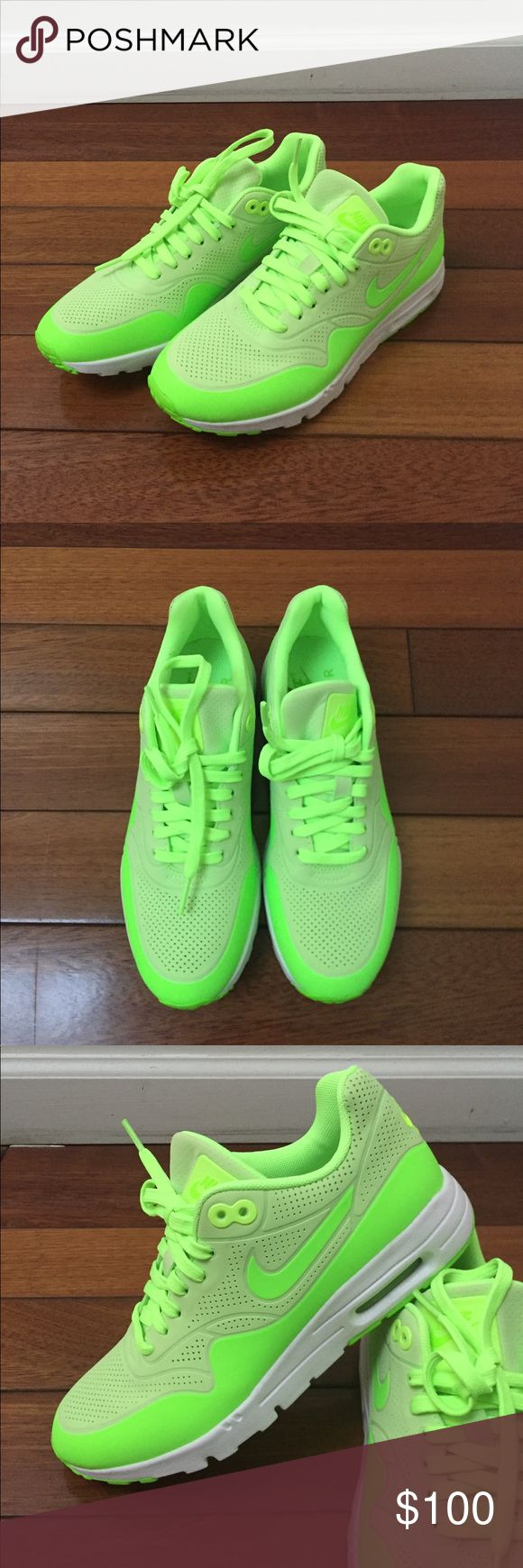 NEW Nike Neon Green Air Max Ultra Moire Sz 7 NEW Nike Neon Green Air Max Ultra Moire Sz 7. No box. Never worn. Awesome neon green color. Nike Shoes Sneakers