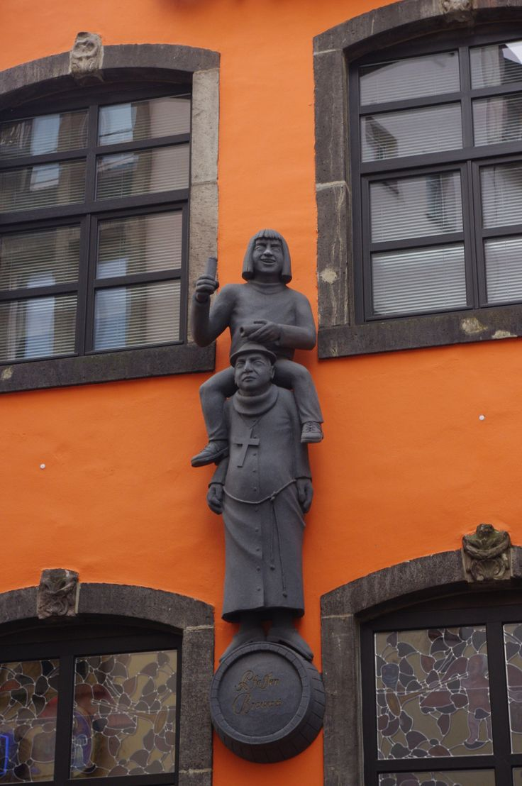 Cologne.  The story is the monk had to carry around the drunk man as penance.