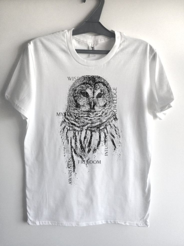 OWL T SHIRT Tshirt, Letter art Nature t-shirt, tank, Bird tee, jersey. owl sweater, owl hoodie, owl hat, owl bag, jeans, pants, sweatpants by Crafteri on Etsy
