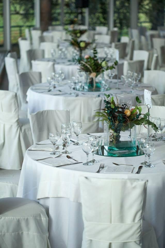 Wedding reception decoration at Panselinos