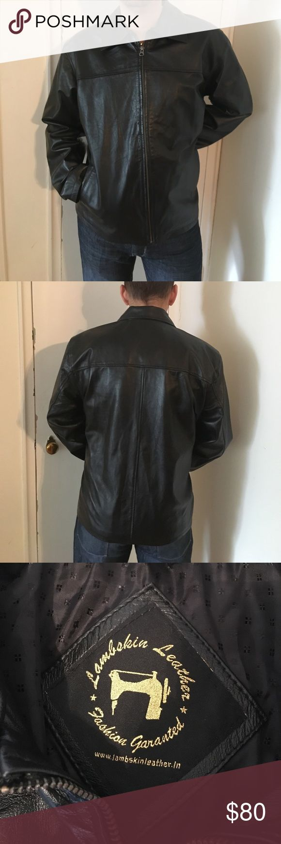 Black Leather Moto Jacket NWT Lambskin Leather. Ask questions. Simple but cool leather jacket.  I'm not positive that it would fit a XXL. lambskin leather Jackets & Coats