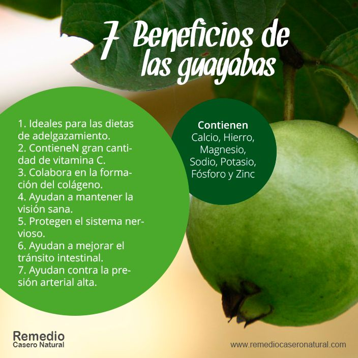 7 Beneficios de las guayabas