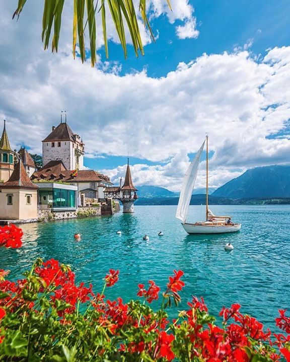A castle by the water / Oberhofen Castle Switzerland / Christophe Cosset Photography Say Yes To Adventure