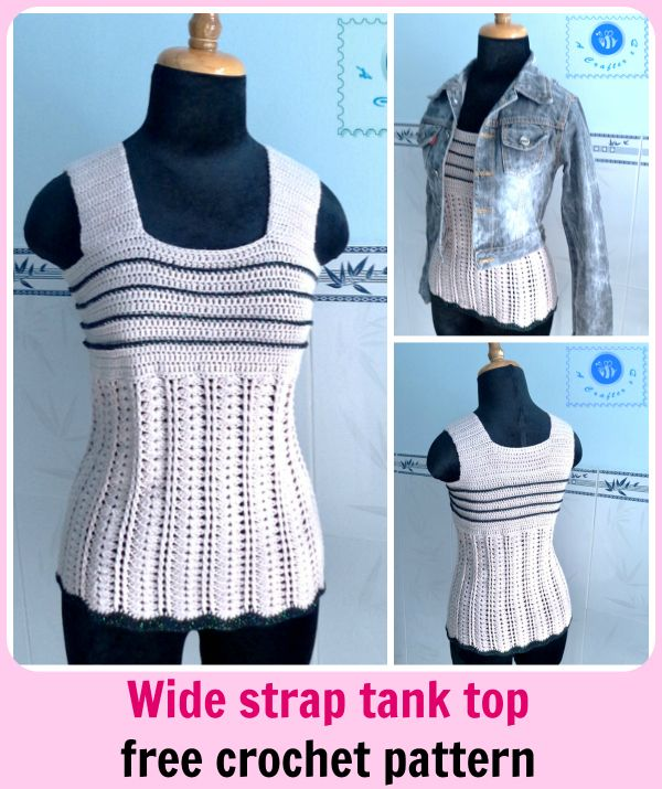 Free Crochet Patterns Women s Tank Tops : 1000+ ideas about Crochet Tank Tops on Pinterest Crochet ...