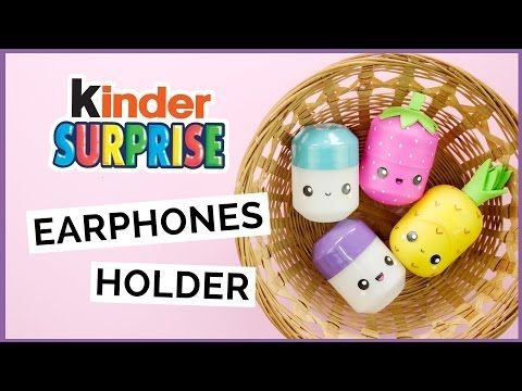 Un adorable moyen de recycler les œufs Kinder en boite pour vos écouteurs - Des idées