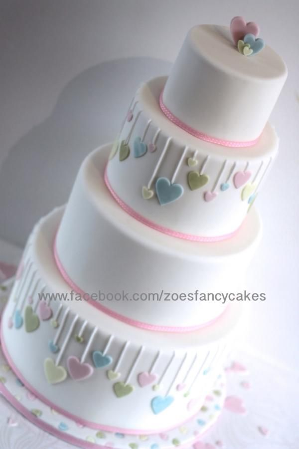 Valentines wedding cake - Cake by Zoe's Fancy Cakes