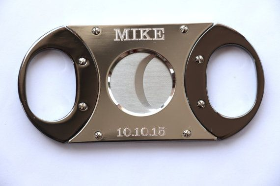 Personalized Cigar Cutter, Groomsmen Gift, Custom Cigar Cutter, Guillotine Cutter, Golf Gift, Gift for Men, Father's Day Gift, Groomsman $19.99