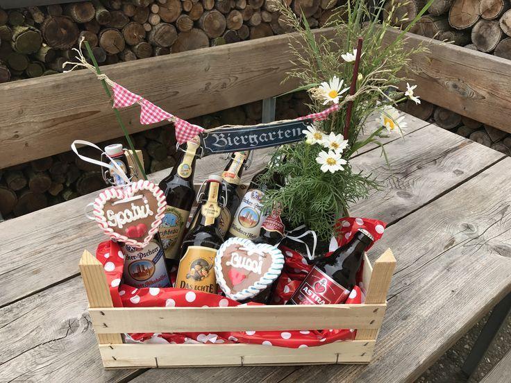 Biergarten, Geschenkidee, Geschenkkorb, Geschenkidee für Männer, Einladung zum Grillen