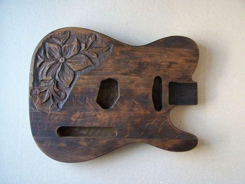 Carved Guitar Bodies Carved Alder Guitar Body For
