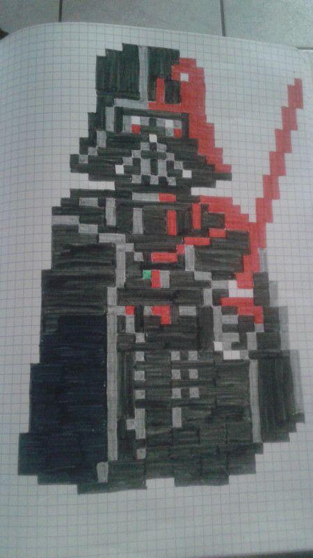 Dark Vador Dessin Pixel Dessin Pixel Facile Et Modele