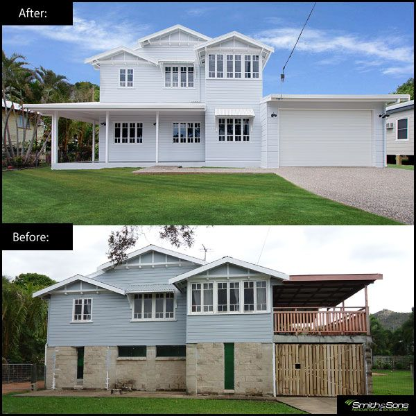 Queenslander Renovation This Renovation Involved A House Raise And Complete