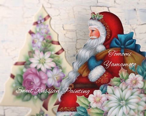 Merry Christmas✨ 先日postしたグリーンサンタの裏側、赤い衣装です。❤️ 飾る場所に合わせて 選べるように リバーシブルに描きました。 デザイン&制作 山本智美 背景の小さなクリスマスツリーともに、著書 『Sweet Russian Painting- スウィート ロシアン ペインティング』掲載作品。 (このミニ・ツリーも、先日postした クリスマスの小箱とセットでお揃い作品です。) designed and painted by Tomomi Yamamoto  山本智美オリジナル作品。 銀座ソレイユ 定期クラス開講中。  #クリスマス#サンタクロース#サンタさん#トールペインティング#トールペイント#トール#ハンドペイント#クラフト#インテリア雑貨#クリスマスプレゼント#手作り#ハンドメイド#クリスマスツリー#santaclaus#tolepainting#handcraft#handpainted#craft#interior#flower#christmas#christmaspresent##handcraft#handmade#chri...