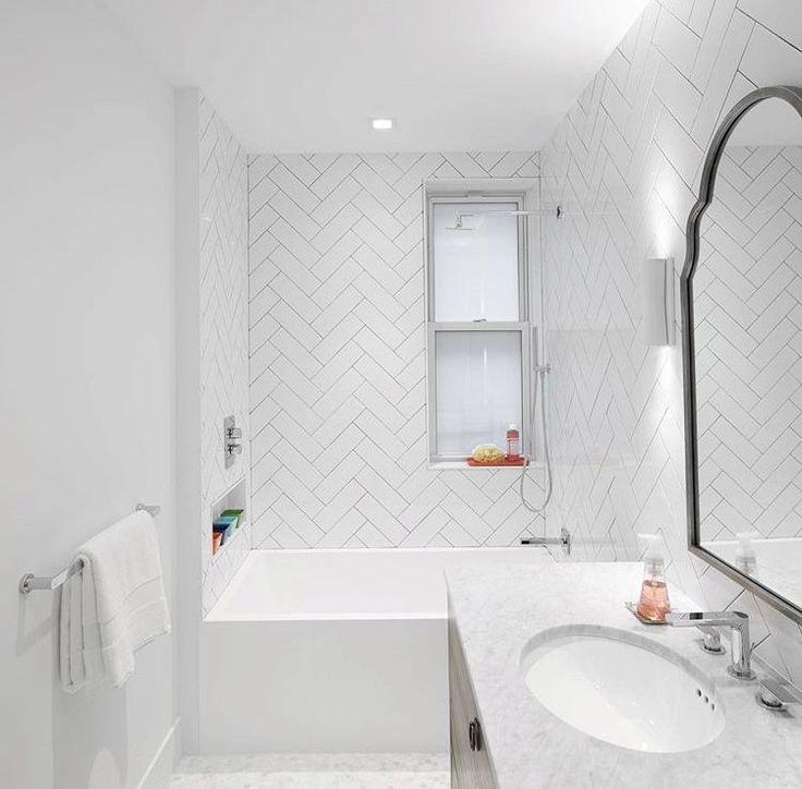 Bathroom Interiordesign Ideas: Cancos Tile & Stone All White Bathroom Featuring Our White