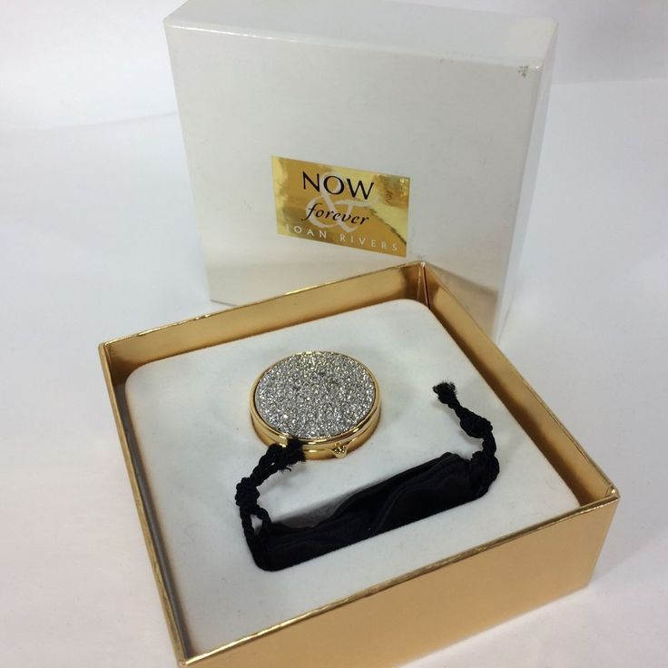 Joan Rivers Now & Forever Pave Crystal Compact Solid Perfume Boxed 0.12oz/3.4g #JoanRivers