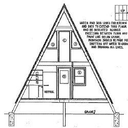 a frame house plans a frame floor plans