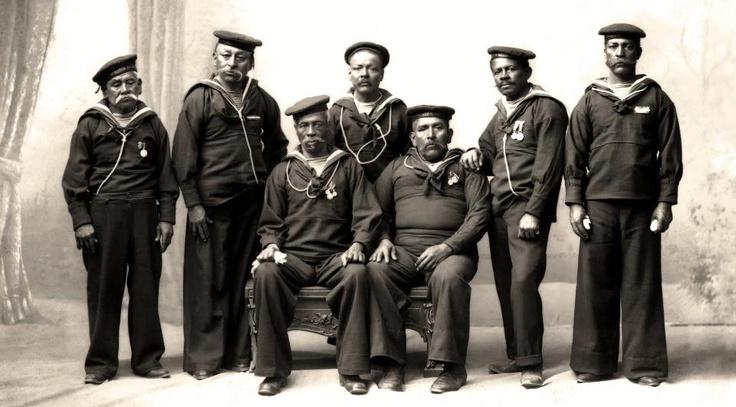 Parte de la tripulación del Monitor Huascar.