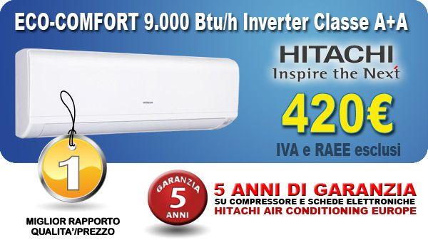 vendita e-commerce climatizzatore fisso a parete Hitachi RAC25 prezzo low-cost ribassato