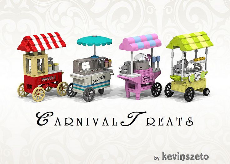 These are amazing. They're not minifig scale but maybe I could modify them for my town :)  by Kevin Szeto