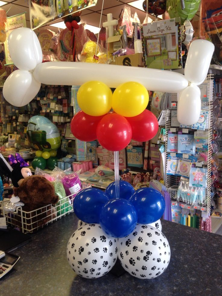 25 best ideas about paw patrol balloons on pinterest for Balloons arrangement decoration