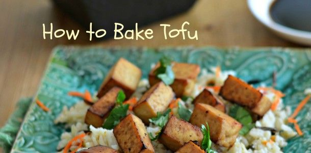 How to Bake Tofu. A easy low carb dish.
