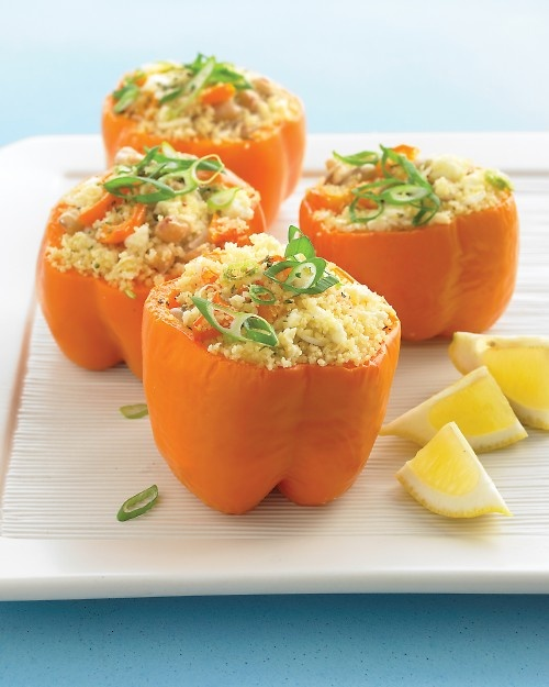 slow cooker greek stuffed peppers