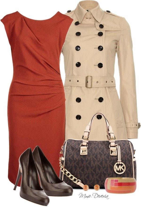 MK bag #3 by madamedeveria ❤ liked on Polyvore... LOVE LOVE LOVE the Orange dress!