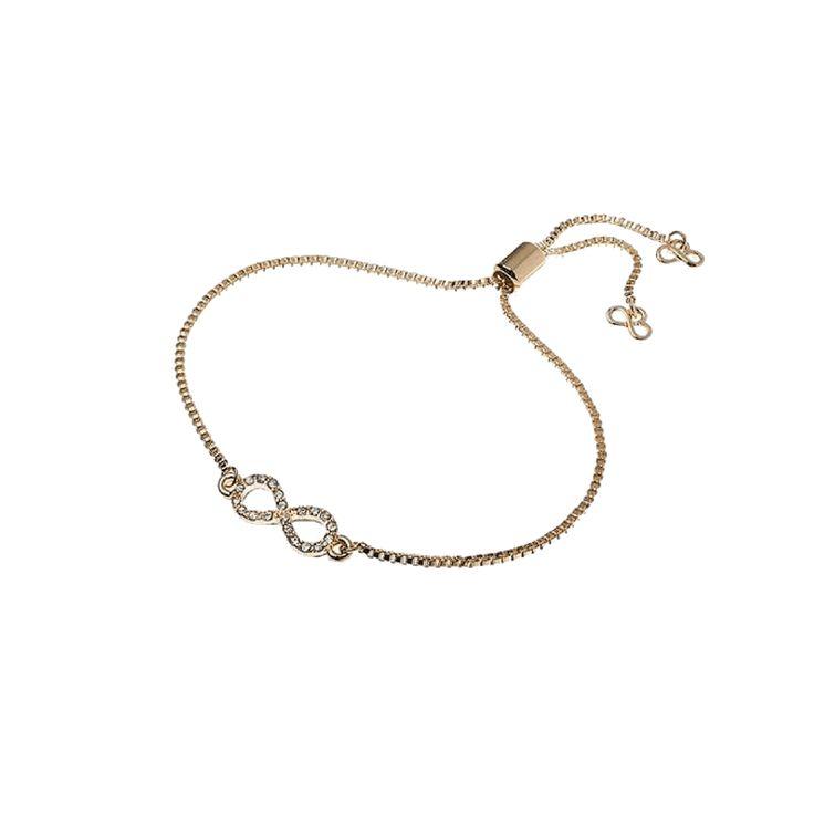 Jeminee Jewellery London Eternal Love Gold Infinity Bracelet | #Gold #Sparkle
