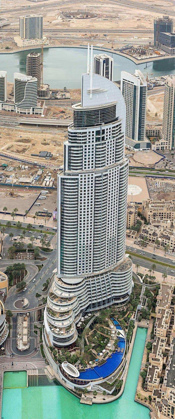 Ramada Downtown Dubai hotel fantastic views from the Burj Khalifa building. Top 10 Amazing Dubai Attractions - Explore Things to Do in Dubai #luxurydubai