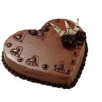 cuore di cioccolato alla panna
