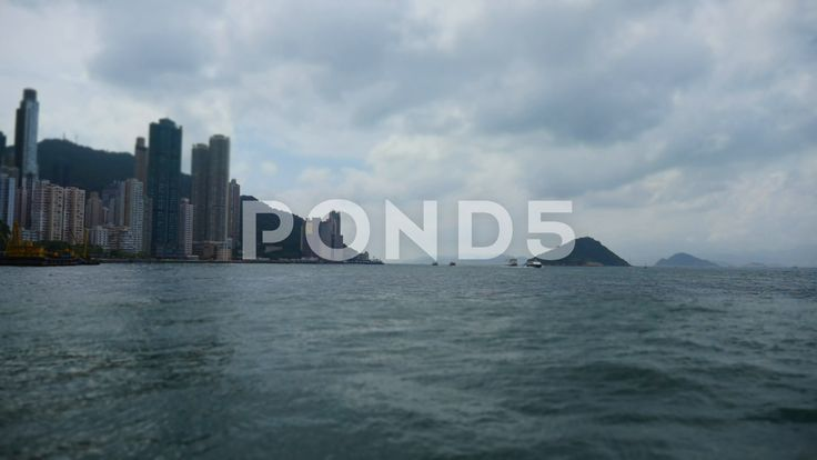 Tilt-Shift Time Lapse Hong Kong Ocean Skyline Mountain City Miniature Scene - Stock Footage | by RyanJonesFilms