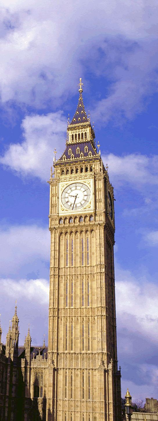 Big Ben, London. 【H.I.S.】ロンドンのビッグ・ベン。